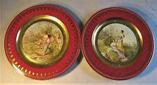 """Fine Pair of Antique ROYAL VIENNA Hand-Painted Plates  """"Amore & Spring""""  c. 1900"""