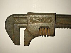 "Vinatage FORD 8"" Crescent Wrench M Adjustable Monkey Man Cave / Garage"