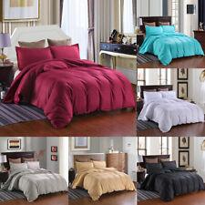 Striped Duvet Cover Set 2 Pillow Shams Ultra Soft Brushed Microfiber Queen King