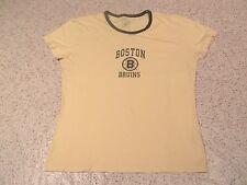 Boston Bruins Logo National Hockey League Banner Brand Women'S T-Shirt-Xl