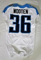 #36 Khalid Wooten of Tennessee Titans NFL Locker Room Game Issued Jersey
