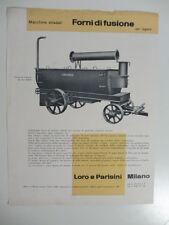 Macchine stradali forni di fusione. Loro e Parisini. Grafica Studio Boggeri