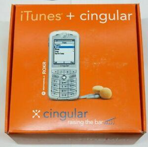 """[Rare, Collectible] Motorola ROKR E1 - Silver (Cingular) """"The iTunes Phone"""""""