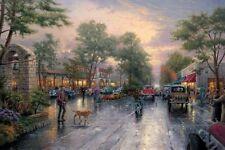 Thomas Kinkade - Carmel, Sunset on Ocean Avenue 28 x 42 Paper Lithograph COA