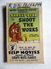 Flip Movie #5 Tom & Jerry and Barney Bear 1949 Post Grape Nut Flakes