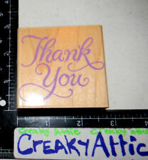 THANK YOU FANCY RUBBER STAMPS HERO ARTS F386