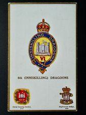 More details for regimental badges 6th inniskilling dragoons postcard by gale & polden 1693