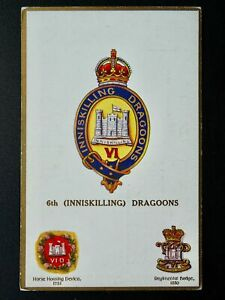 Regimental Badges 6th INNISKILLING DRAGOONS Postcard by Gale & Polden 1693