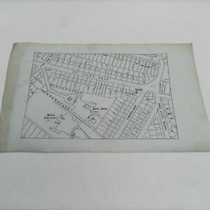 Antique Map: Bournemouth Street Plan [G] Unknown Date | Heron Court Road