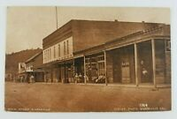 Postcard Main Street Guerneville California 1915 Dirt Road Bank