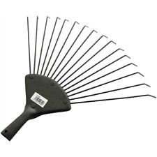 Replacement 16 Tooth Lawn Rake Head - Garden Carbon Steel Grass Leaves Leaf Lawn