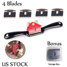 Adjustable Metal Spoke Shave Plane Spokeshave Hand Tool for Woodworking 4 Blades