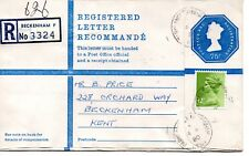 GB - REGISTERED ENVELOPE - SIZE G - 75p - BECKENHAM P - 3324