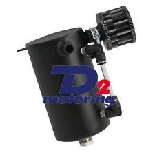 Universal 0.5L Car Oil Reservoir Catch Can Tank+Breather Filter Black