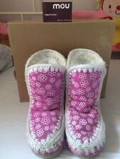 Girls Floral Sheepskin MOU Size Uk 2 Boots