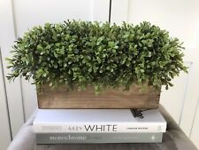 Artificial Faux Topiary Boxwood Wooden Window Box - Brand New