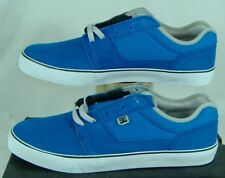 New Mens 14 DC Tonik Blue Suede Leather Boat Skate Shoes $55