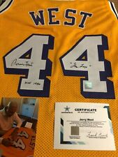 Autographed Jerry West Los Angeles Lakers Jersey w/ inscriptions SSG Signed