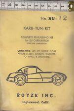 Carburetor kit Austin Healy 3000-MK2 1962 Royze #SU-12