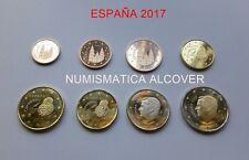 EUROS ESPAÑA 2017 Serie completa 8 monedas SC - SPAIN EURO SET