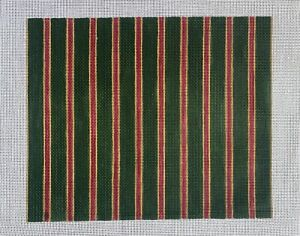Handpainted Needlepoint Canvas: Striped Chair Cover or Pillow