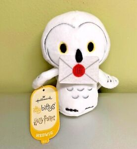 Hallmark Itty Bittys Hedwig the Owl w Letter Harry Potter NWT Fluffy White Cute