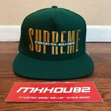 New Supreme Global 5-Panel Cap Hat Snapback Camp World Famous Green Classic FW18