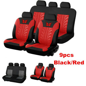 9x Washable Car Seat Cover 5-Seats Full Set Front&Rear Seat Cushion Protector