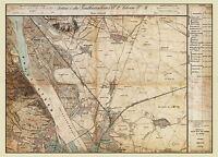 MAP AUSTRO-HUNGARIAN MILITARY 1872 STREBERSDORF REPLICA POSTER PRINT PAM0545