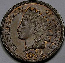 1898 Indian Head Cent Amazing Superb GEM BU... 100% Original and So Very NICE!!!