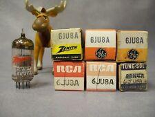 6JU8A Vacuum Tubes  Lot of 6  GE / RCA / Tung-Sol / Zenith