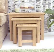 Nara nest of three coffee tables set solid oak living room furniture