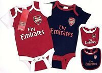 ARSENAL FC 2019 OFFICIAL BABIES BODY PRAM SUIT SHORT SLEEVE BABY GROW VEST AFC