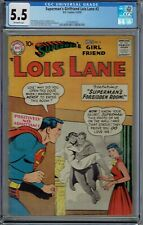 CGC 5.5 SUPERMAN'S GIRLFRIEND LOIS LANE #2 TOUGH MID GRADE EARLY SILVER DC 1958