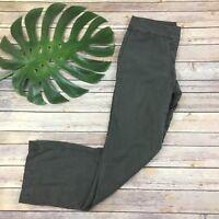 Eileen Fisher Gray Linen Blend Pants Size 4 Petite Straight Leg Solid Career