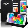 Etui Housse Coque Portefeuille NOIR Simili Cuir Samsung Galaxy Grand Prime G530