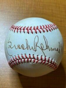 Brooks Robinson - Signed Autographed Rawlings OAL (Brown) Baseball- PSA