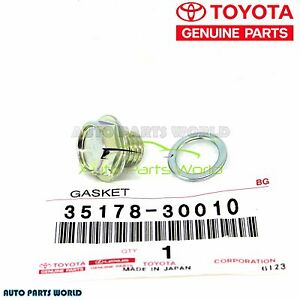 GENUINE TOYOTA LEXUS TRANSMISSION DRAIN PLUG W/ GASKET 90341-10011 & 35178-30010