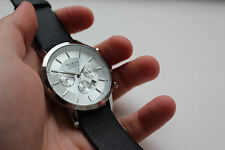 Vintage Style Unisex Water Resistant Sports Watch White Dial