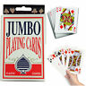 1x GIANT PLAYING CARDS JUMBO CARD PLAY YOUR CARDS RIGHT FAMILY PARTY GAME 13x9cm