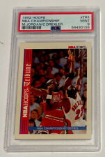 Michael Jordan Clyde Drexler 1992 Hoops NBA Championship #TR1 PSA 9  NEW SLAB