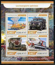 DJIBOUTI  2017  SPECIAL TRANSPORT SHEET MINT NH