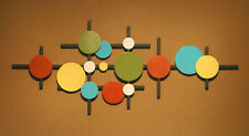 Abstract Metal Sculpture Wall Art Mid Century Modern Retro Hand Made color
