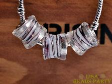 10pcs 15x14mm Lampwork Crystal Glass Big Hole Loose  Beads White