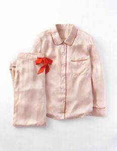 BODEN Women's Luxury 100% Silk Pyjamas - Peach - UK 12 - NWOT - WP053