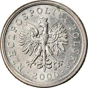 [#894005] Coin, Poland, 10 Groszy, 2000, Warsaw, MS(60-62), Copper-nickel