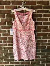 TAYLOR WOMEN'S DRESS SIZE 4 Pink & White Floral Lined NWT