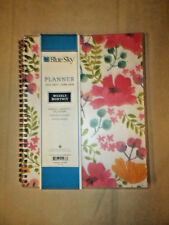 Blue Sky Weekly/Monthly Planner/Calendar Contact Pages Notes Pages 8 x 10 Vinyl