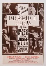 Chico CA OLD Vintage AMERICAN Movie Theater,  Movie Program, The Passion Play