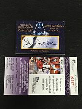 JAMES EARL JONES DARTH VADER STAR WARS SIGNED AUTO CUSTOM CUT SIGNATURE CARD JSA